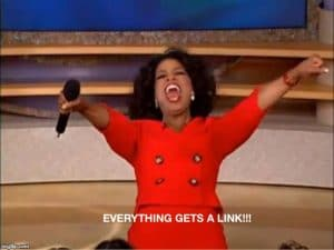 Internal linking meme Oprah